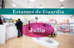 Guardia de las Farmacia Los Andenes en Julio