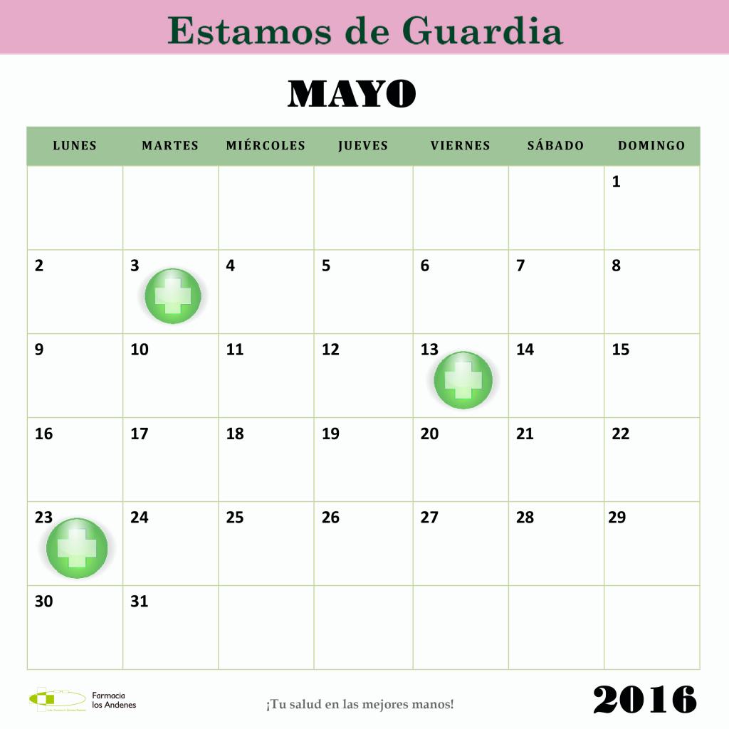 Estamos de Guardia 2016 mayo